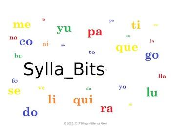 SyllaBits Spanish Ca Co Cu Syllable Slideshow Silabas Abiertas