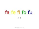 SyllaBits Spanish Fa, fe, fi, fo, fu Syllable Slideshow Silabas Abiertas