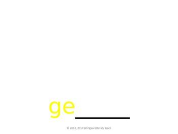 SyllaBits Spanish Ge, gi Syllable Slideshow Silabas Abiertas