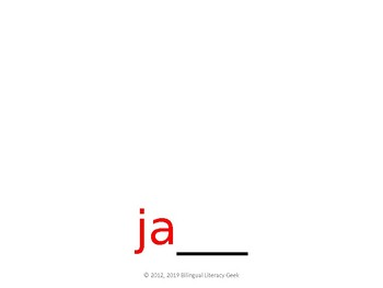 SyllaBits Spanish Ja, je, ji, jo, ju Syllable Slideshow Silabas Abiertas