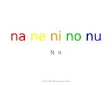 SyllaBits Spanish Na, ne, ni, no, nu Syllable Slideshow Silabas Abiertas