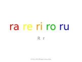 SyllaBits Spanish Ra, re, ri, ro, ru Syllable Slideshow Silabas Abiertas