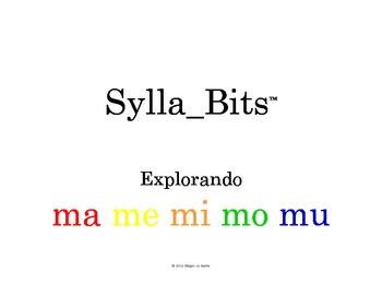 SyllaBits Spanish Syllable WorkPack Ma Me Mi Mo Mu Silabas Abiertas
