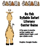 Syllabe Safari Closed, Magic E, Open Go Fish Literacy Center game