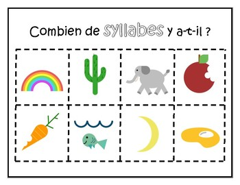 Syllabes (syllable sort for French Immersion)
