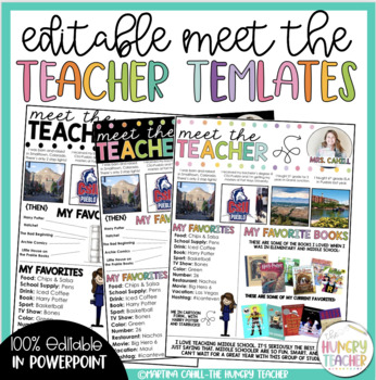 free meet the teacher template - syllabus and meet the teacher editable infographic