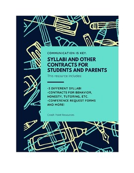 Syllabi and other contracts for students and parents