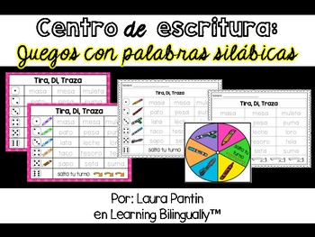 Syllabic Words Writing Activities in Spanish