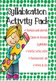 Syllabication Activity Pack *No Prep*