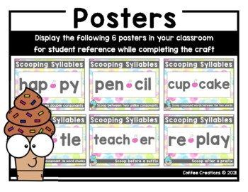 Syllabication Rules Craft {2 syllables, 6 rules - 2.RF.3c, 2.RF.3d}