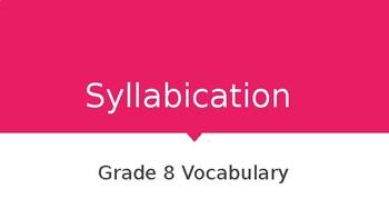 Syllabication Flashcards Grade 8