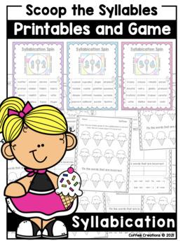 Syllabication Rules NO PREP Activities - Printables and Game