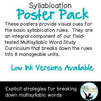 Syllabication Poster Pack-Color Version