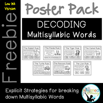 Syllabication Poster Pack-Low Ink Version