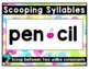 Syllabication Posters FREEBIE {2 syllable words, 6 rules}