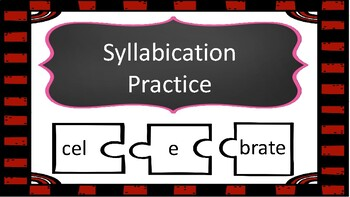 Syllabication Practice