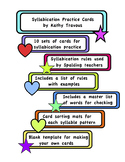 Syllable Division Practice Cards for Spalding Teachers
