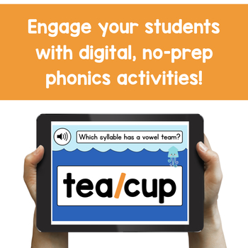 Syllabication Practice for 1st Grade - Digital Phonics Activities | BOOM Cards™