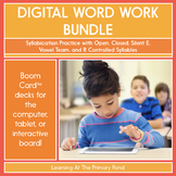 Syllabication Practice for 1st Grade - Digital Phonics Activities | BOOM Cards™