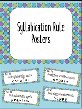Syllabication Rule Posters {Anchor Charts}
