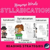 Syllabication *Secret Code* 2, 3, and 4 Syllable Nonsense