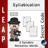 Syllabication *Secret Code* 2 Syllable Nonsense Words