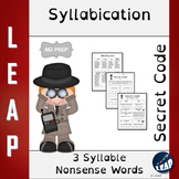 Syllabication *Secret Code* 3 Syllable Nonsense Words