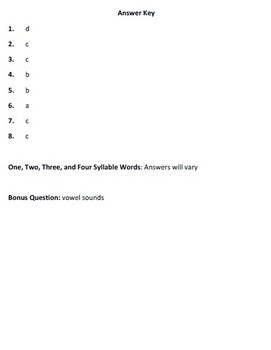Syllabication Test