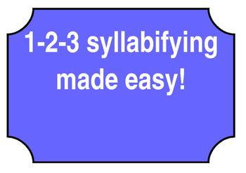 Syllabifying Rules Charts