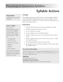 Syllable Actions