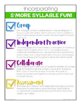 Syllable Activities - S'more Syllable Fun!