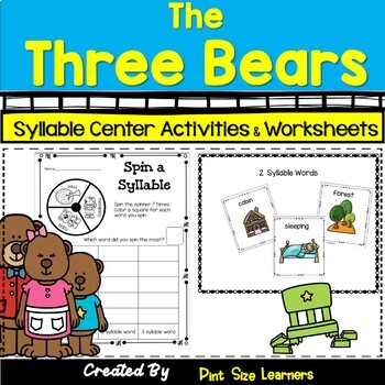 Syllable Activities With The Three Bears