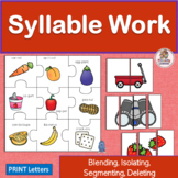 Syllable Activities to Blend and Segment Syllables