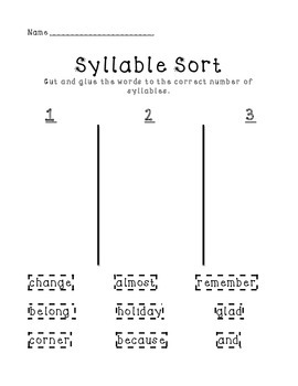 Syllable Activity Packet