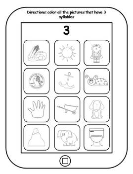 Syllable Apps Printable Tablets