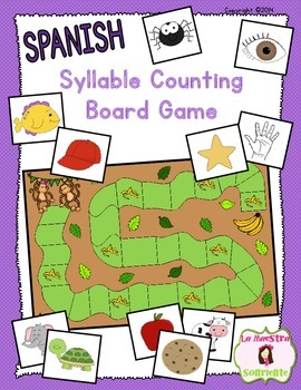 Syllable Awareness: Syllable Counting Board Game (Spanish)