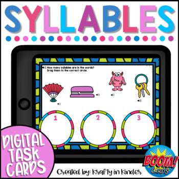 Syllable BOOM CARDS Digital Task Cards