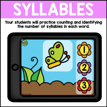 BOOM CARDS Syllables Digital Task Cards