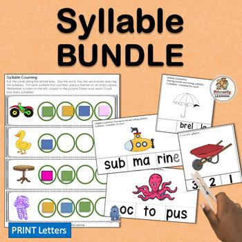 Syllable BUNDLE complements programs like Jolly Phonics.
