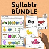 Syllable Counting Activities MEGA-BUNDLE   SASSOON Font