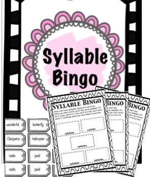 Syllable Bingo