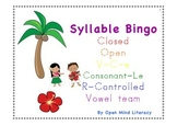 Syllable Bingo (All 6 syllable types!):: Orton-Gillingham