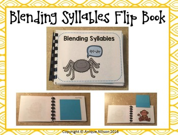 Syllable Blending Flip Book