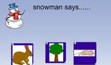 Syllable Blending Snowman Says