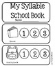 Syllable Book - Back To School Theme