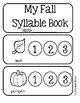 Syllable Book - Fall Theme