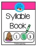 Syllable Book - Thanksgiving