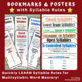 Bookmarks & Posters with Syllable Rules