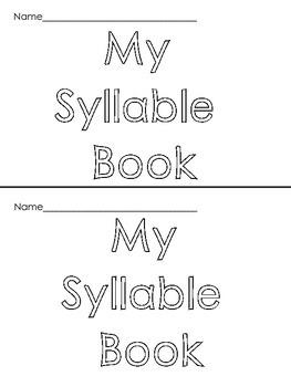 Kindergarten / First Grade Syllable Books
