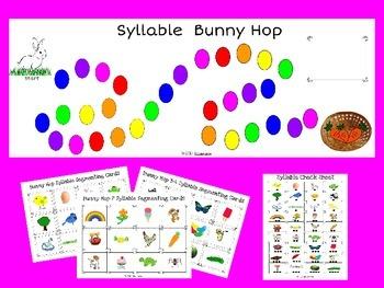 Spring Syllable Bunny Hop Game